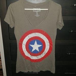 Marvel gray t-shirt top size medium